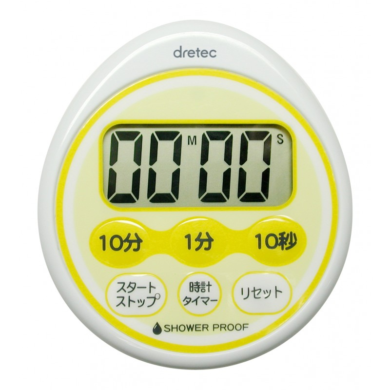 Water-Drop Resistance Timer With Clock