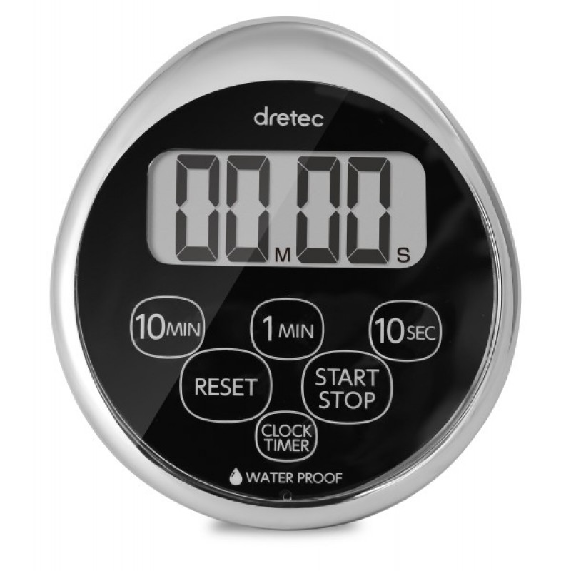 WATERPROOF TIMER WITH CLOCK