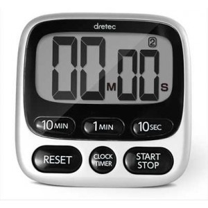 LARGE SCREEN TIMER WITH CLOCK
